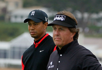 Phil beat Tiger by 11 shots at Pebble Beach on Sunday