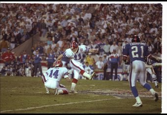 Scott Norwood missing the potential game winning field goal in Super Bowl XXV