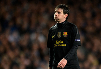 A frustrated Messi