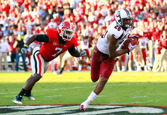 The Redskins would love to see more of this should they select South Carolina's Antonio Allen.