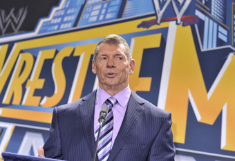 EAST RUTHERFORD, NJ - FEBRUARY 16: Vince McMahon attends a press conference to announce that WWE Wrestlemania 29 will be held at MetLife Stadium in 2013 at MetLife Stadium on February 16, 2012 in East Rutherford, New Jersey. (Photo by Michael N. Todaro/Ge