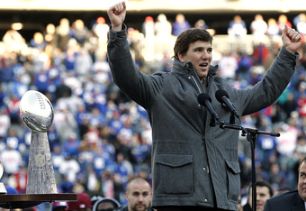 Eli and the Giants have seven playoff teams on their '12 schedule