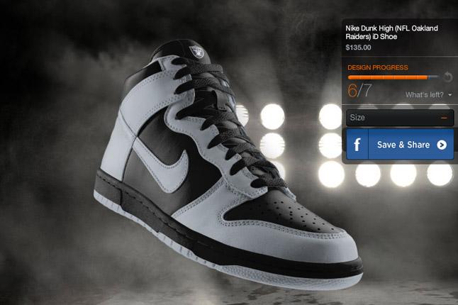 Nike Dunk High Nfl Oakland Raiders Id Shoe