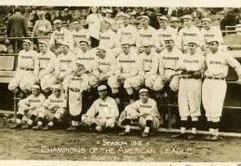 Fenway's first team -- the 1912 World Champion Red Sox.