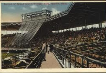 Fenway's original press box (at top) was a modest, open-air booth.