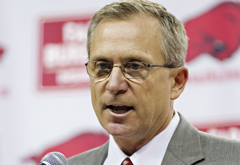 Arkansas Vice Chancellor and Director of Athletics Jeff Long