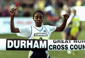 22 Jan 2000: Gete Wami of Etiopia Wins in the IAAF world cross country series Great North Run in Durham, England. \ Mandatory Credit: Stu Forster /Allsport