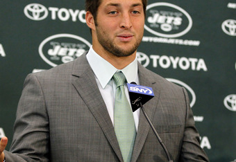 Tim Tebow is now a New York Jet.  Nope, he's not going away.