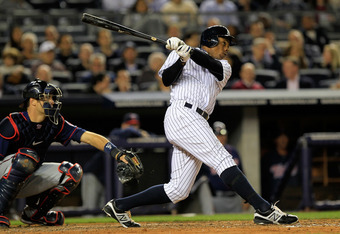 Curtis Granderson hit 3 home runs against the Minnesota Twins yesterday.