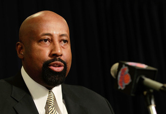 NEW YORK, NY - MARCH 14:  Mike Woodson speaks to the media at a press conference to announce him as the interim head coach of the New York Knicks before the game against the Portland Trailblazers at Madison Square Garden on March 14, 2012 in New York City