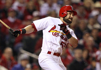 Will Skip Schumaker end up filling in more in center field or at second base?