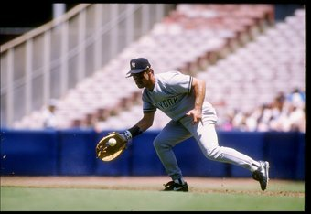 11 Jul 1993:  Infielder Don Mattingly of the New York Yankees in action during a game against the California Angels at Anaheim Stadium in Anaheim, California.  Mandatory Credit: Jonathan Daniel  /Allsport