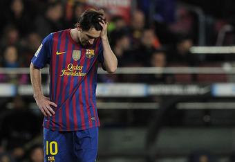 Messi struggles.