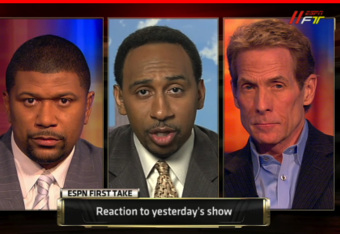 Jalen Rose, Stephen A. Smith, & Skip Bayless debating