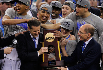 Calipari Has Tied Pitino in NCAA Championships.