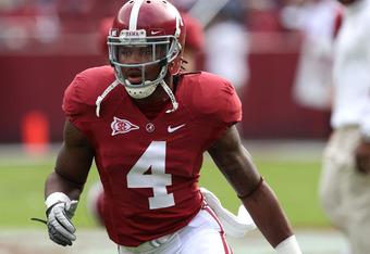 Alabama safety Mark Barron is a sure first round pick.
