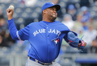 Francisco Cordero, 36, with the Blue Jays in 2012.