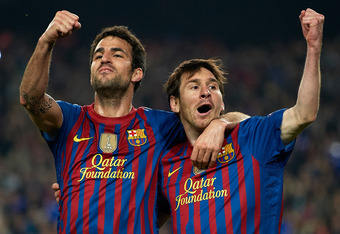Cesc Fabregas and Lionel Messi are a pretty tough duo to stop when the Blaugrana have the ball.
