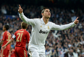 Ronaldo was excited after his first goal of the night