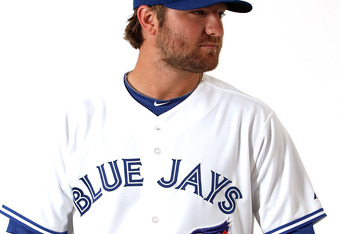 DUNEDIN, FL - MARCH 02:  Kyle Drabek #4 of the Toronto Blue Jays poses for a portrait at Dunedin Stadium on March 2, 2012 in Dunedin, Florida.  (Photo by Jonathan Ferrey/Getty Images)