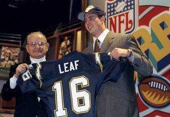 Ryan Leaf was drafted with the 2nd overall pick in the 1998 NFL Draft