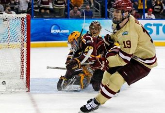 Kreider scored his final BC goal in the Frozen Four versus Minnesota exactly three weeks ago Thursday