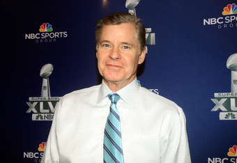INDIANAPOLIS, IN - JANUARY 31:  NBC studio analyst and radio host Dan Patrick looks on during the Super Bowl XLVI Broadcasters Press Conference at the Super Bowl XLVI Media Canter in the J.W. Marriott Indianapolis on January 31, 2012 in Indianapolis, Indi
