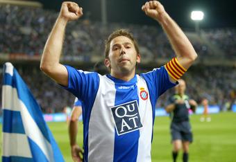 The veteran striker during his days at Espanyol.