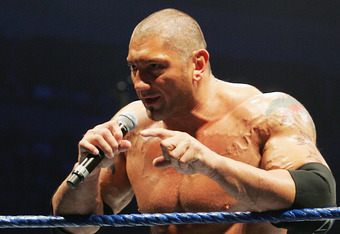 SYDNEY, AUSTRALIA - JUNE 15:  Batista stands in the ring during WWE Smackdown at Acer Arena on June 15, 2008 in Sydney, Australia.  (Photo by Gaye Gerard/Getty Images)