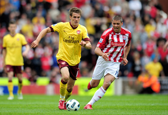 Ramsey against Stoke last season.