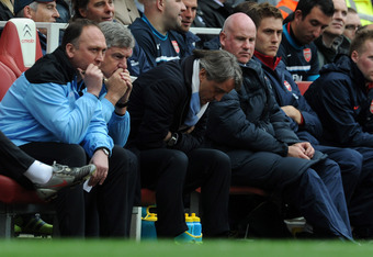 Man City's performances have put Mancini on the hot seat.