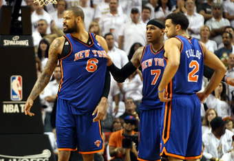 Tempers flared for the Knicks in the second quarter as the game began to slip away.