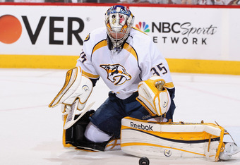 The Coyotes have scored as many goals on Pekka Rinne in two games as the Red Wings scored in previous five-game series.