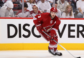 With two assists, Keith Yandle leads all defensemen in scoring with seven points.