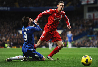 Fernando Torres faces his old teammates at Wembley Stadium in London on Saturday.