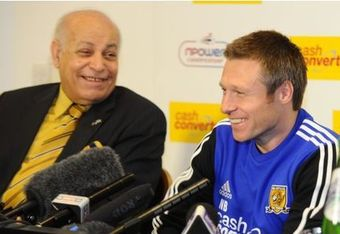 Assem Allam & Nick Barmby in Happier Times