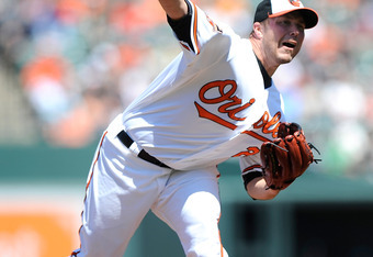 Starter Tommy Hunter benefitted from the O's strong defense behind him.