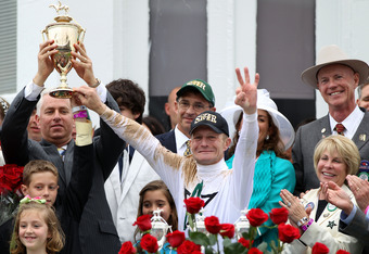Calvin Borel at the 2010 Kentucky Derby.