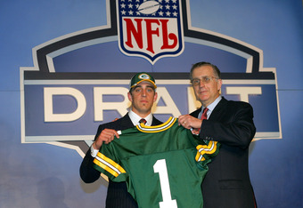 Aaron Rodgers at the 2005 Draft
