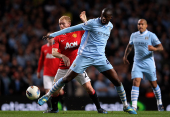 Toure was impeccable against United on Monday.
