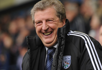WEST BROMWICH, ENGLAND - APRIL 07: West Brom manager Roy Hodgson looks on during the Barclays Premier League match between West Bromwich Albion and Blackburn Rovers at The Hawthorns on April 7, 2012 in West Bromwich, England.  (Photo by Michael Regan/Gett