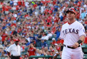 ARLINGTON, TX - APRIL 07:  Josh Hamilton #32 of the Texas Rangers at Rangers Ballpark in Arlington on April 7, 2012 in Arlington, Texas.  (Photo by Ronald Martinez/Getty Images)