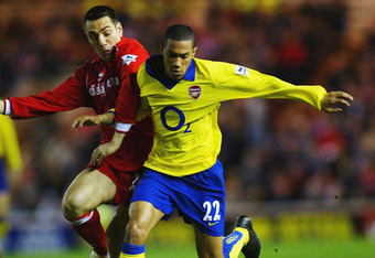 Clichy in action during the Invincibles season.