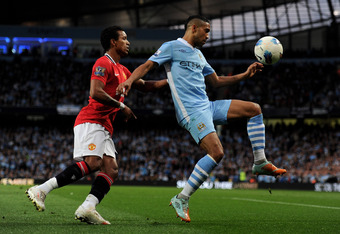Clichy was excellent against Manchester United on Monday.