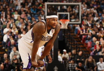 SACRAMENTO, CA - JANUARY 18:  DeMarcus Cousins #15 of the Sacramento Kings in action against the Indiana Pacers at Power Balance Pavilion on January 18, 2012 in Sacramento, California. NOTE TO USER: User expressly acknowledges and agrees that, by download