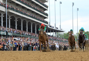 Longshot Animal Kingdom, with John Velazquez up, captured the 137th running of the Kentucky Derby at odds of 21-1.
