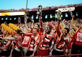 LINCOLN, NE - SEPTEMBER 10: Nebraska Cornhuskers fans make noise as their team kicks off against the Fresno State Bulldogs at Memorial Stadium September 10, 2011 in Lincoln, Nebraska. Nebraska won 42-29.(Photo by Eric Francis/Getty Images)