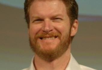 Dale Earnhardt Jr. smiles before the 2012 season