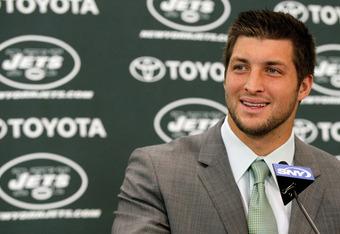 Jets quarterback Tim Tebow
