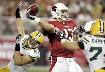 The Packers had no answer for Kurt Warner in the '09 playoffs.